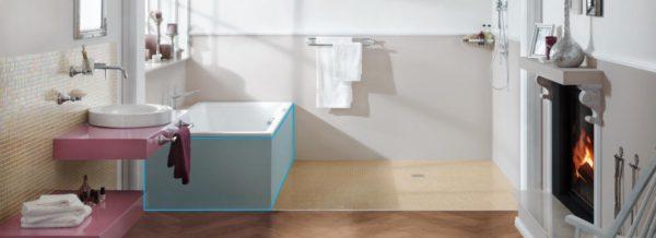 tablier baignoire wedi beautiful salle de bain n vido. Black Bedroom Furniture Sets. Home Design Ideas