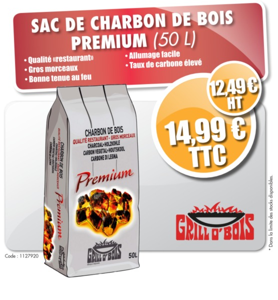 sac de charbon de bois premium 50 litres tanguy. Black Bedroom Furniture Sets. Home Design Ideas