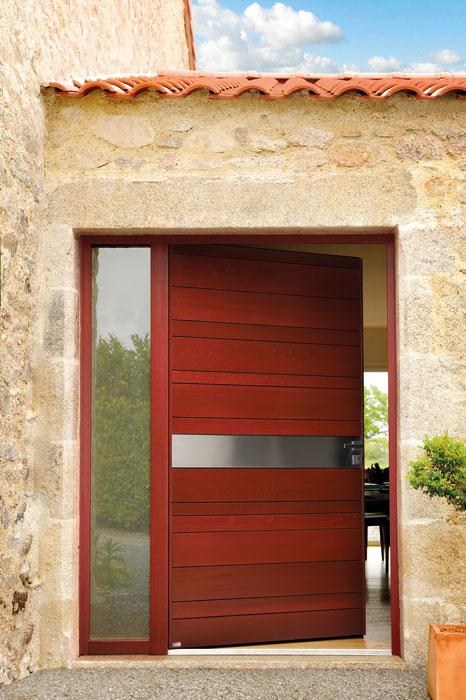 Choisissez une porte d entr e en bois nativ en red cedar tanguy - Fabriquer une porte d entree en bois ...