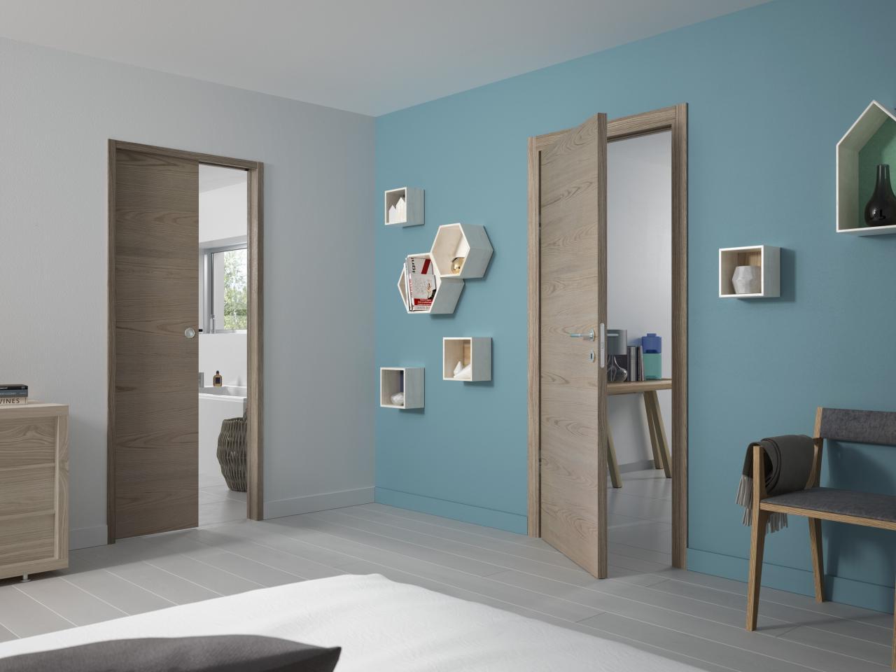 la porte int rieure aux charni res invisibles et serrures. Black Bedroom Furniture Sets. Home Design Ideas