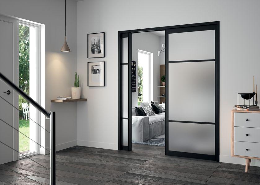 Les portes coulissantes galandage l gance et discr tion tanguy - Double porte interieure vitree ...