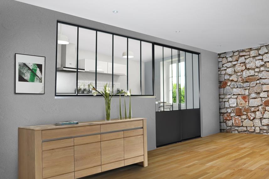 une verri re int rieure pour jouer avec la lumi re tanguy. Black Bedroom Furniture Sets. Home Design Ideas
