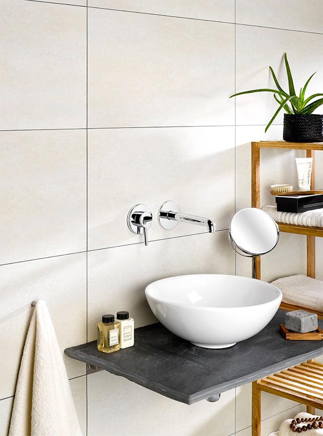 R nover sa salle de bain et sa fa ence sans tout casser avec des dalles en pvc carro tanguy - Renover salle de bain sans casser carrelage ...