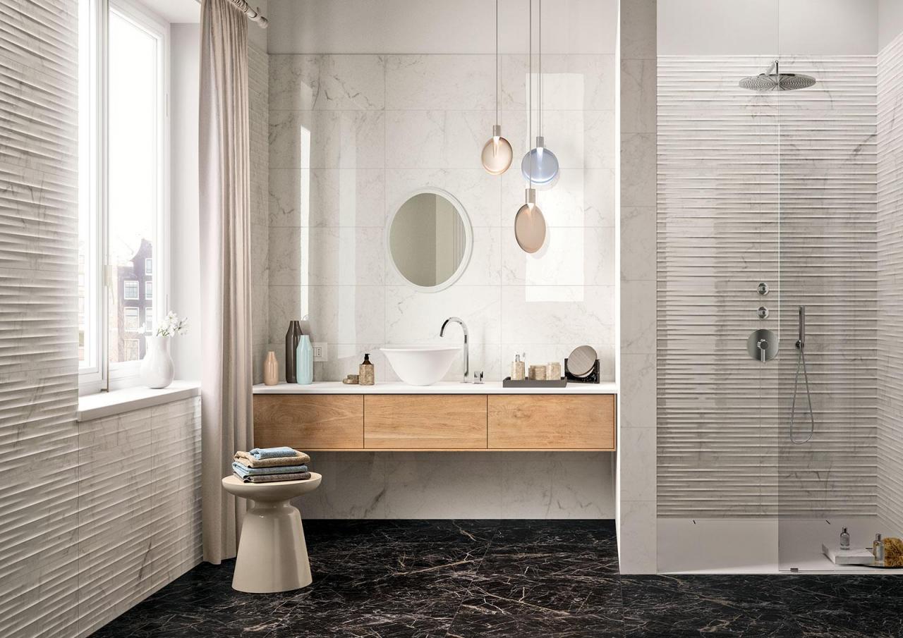 Carrelage imitation marbre pour une salle de bain élégante  Tanguy